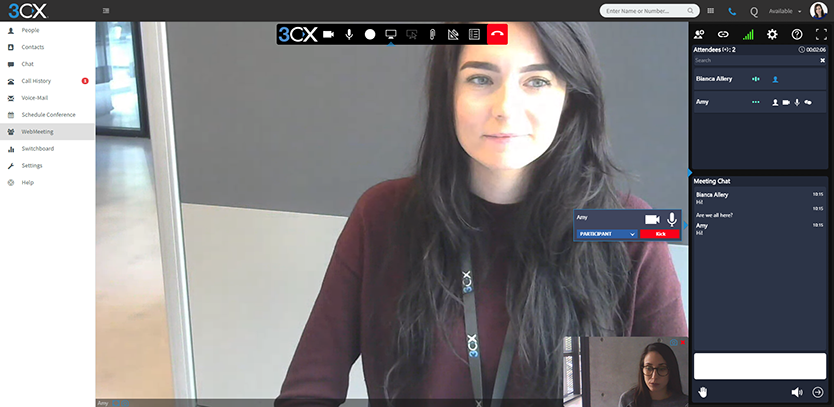 3cx web conferentie platform fly by wire