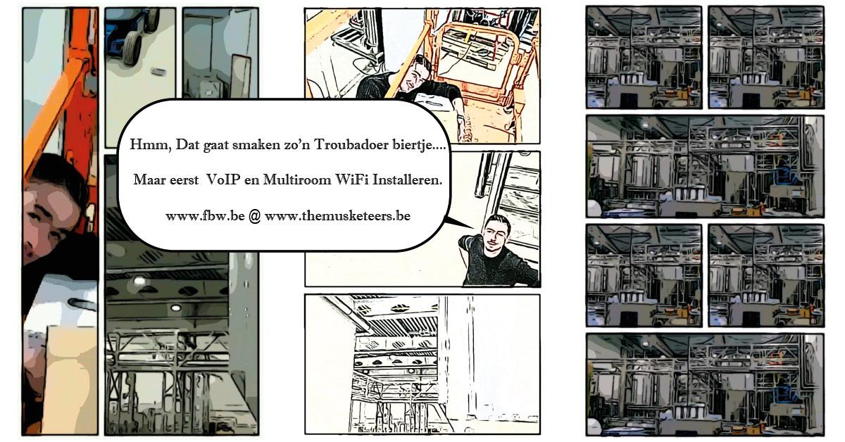 telefooncentrale 3cx musketeers voip multiroom wifi brouwerij fbw.be